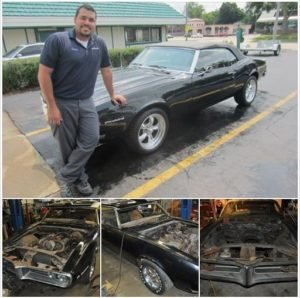 Sherman and Kevin completely rebuilt this 1968 Pontiac Firebird Convertible after it had been sitting in a garage for 30 years.