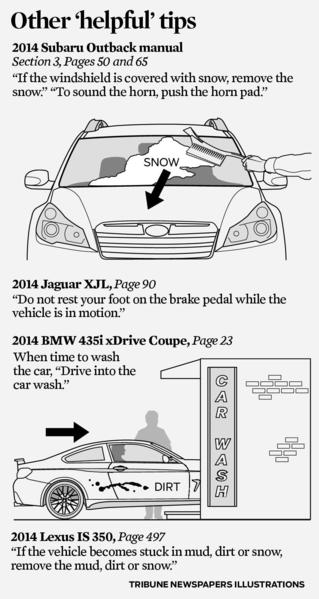 Does your car's owner's manual contain any of these helpful gems?