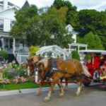 Horse-drawn carriage in Mackinac Island, MI